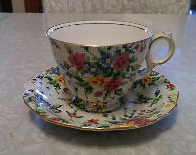 Royal Winton England, Queen Anne tea cup and saucer.