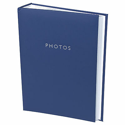 Classic Faux Leather Blue Photo Album Holds 300 Photographs 6x4 4x6 Picture Book