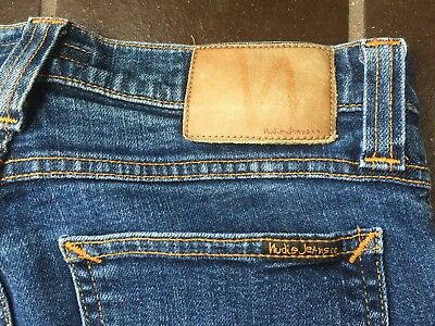 Nudie Jeans Women's Size W28 L32 Blue. Made In Italy