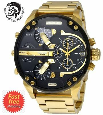 *new* Diesel Mr Daddy 2.0 Gold Chrono 4 Zone Watch Dz7333 - Rrp £349