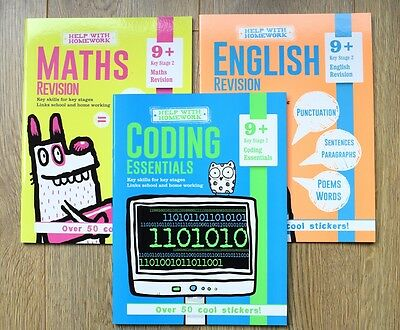 Year 5 & 6 Maths English ICT Books Bundle Educational Workbook Home Learning 9+