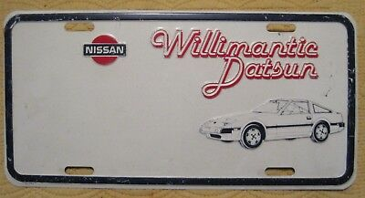 WILLIMANTIC CONN Dealer Plate Advertising WILLIMANTIC DATSUN - NISSAN
