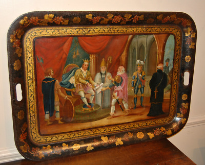 Large C19th Tole Ware Tray