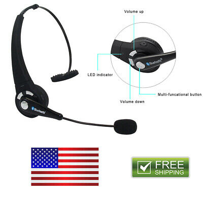 Trucker Over Headphones Wireless Bluetooth Boom With Mic Headset Earphone