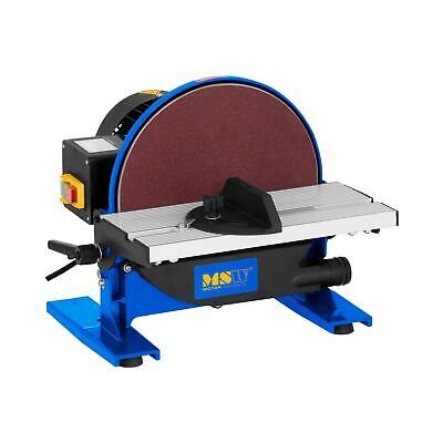 Ponceuse Disque Stationnaire 550 W 1750 Tr/Min Table Inclinable 45° 1 Raccord