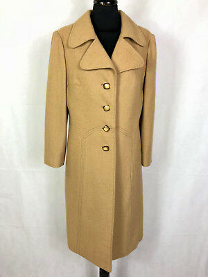 CULT VINTAGE '70 Cappotto Donna Lana Sfiancato Wool Woman Coat Sz.M - 44