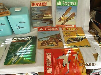 Air Progress Magazines 1958 - 1968 Lot Of 6 Issues