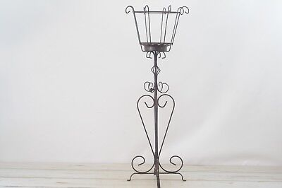 """Vintage Decorative Wire  Plant Stand Wrought Iron 35"""" Stand"""