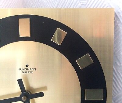 Vintage Clock JUNGHANS West Germany Mid Century Working 1950s