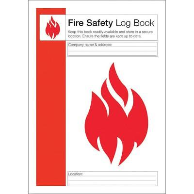 Click Medical Fire Safety Log Book To Record Fire Procedures Ref CM1325