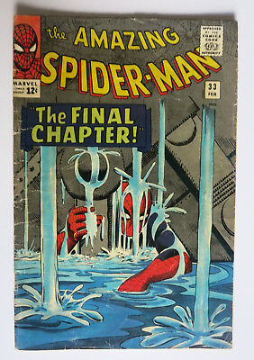 Amazing Spider-Man Run #30, #33-#39 MID Grade Lee and Ditko 8 Issues