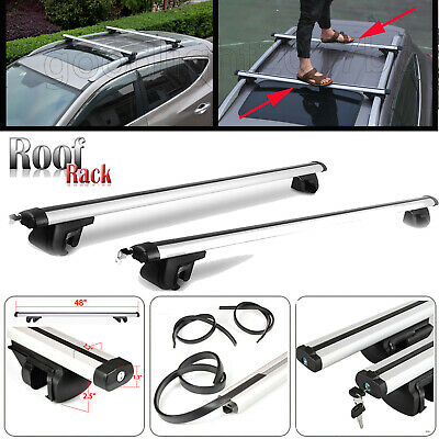 Ford Kuga Aluminium Aero Dynamic Car Roof Bars Universal Lockable For Side Rails
