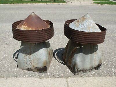 2 Vintage Metal Barn Cupola Roof Topper Decorative Finial Architectural Salvage