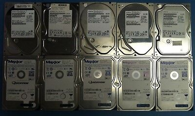 "Lot of 10 Mixed Brand 3.5"" 500GB SATA Desktop Hard Drives HDD"