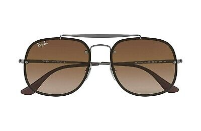 2bee20e7e71641 RAY-BAN BLAZE AVIATOR RB 3584N 004 13 Gunmetal Sunglasses Brown ...