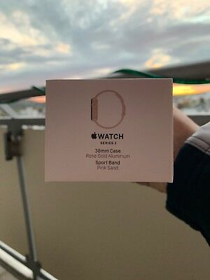 Apple Watch Series 2 38mm Case Rose Gold Aluminium Sport Band Pink Verpackung