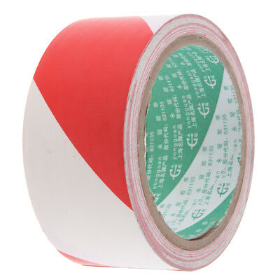 New Self Adhesive 48x4500mm PVC Safety Hazard Warning Barrier Tape