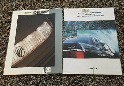 1992, 1993 Ford Lincoln And Mercury Dealer Brochures
