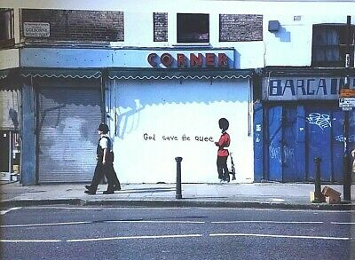 Banksy Street Artist Beefeater God Save the Queen Print A4 A3 A2 A1