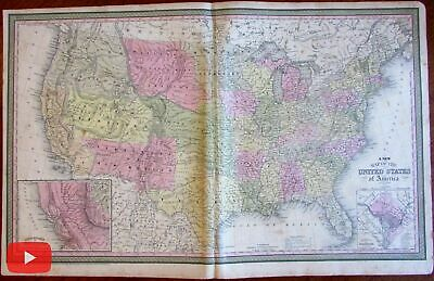 Territorial United States Gold Regions c. 1850 Mitchell Young Cowpertwait