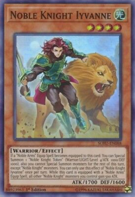 Yugioh! Noble Knight Iyvanne - SOFU-EN088 - Super Rare - 1st Edition Near Mint,