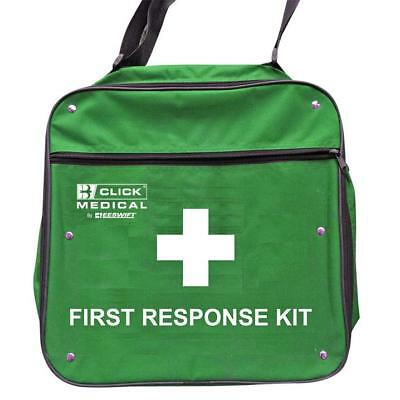 Click Medical Responders Bag for First Aid Supplies Green Ref CM1712