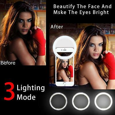 Selfie Flash LED Phone Camera Photography Ring Light For Iphone Samsung US Stock