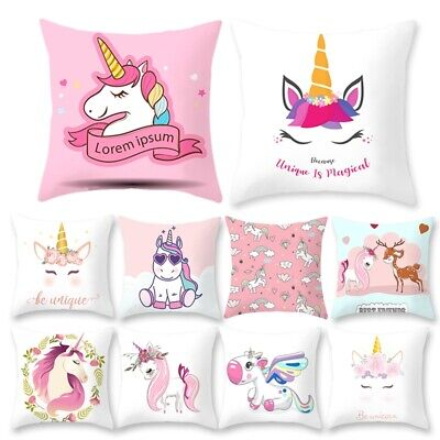 unicorn kids Throws pillowcase white cushion covers 18 x 18cm baby home decor