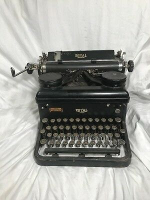 Vintage Antique Black Royal KHM Typewriter Standard Touch Control