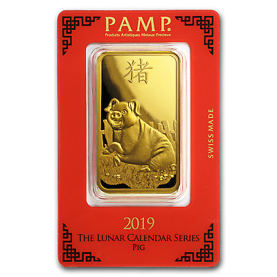 100 gram Gold Bar - PAMP Suisse Year of the Pig (In Assay) - SKU#173459