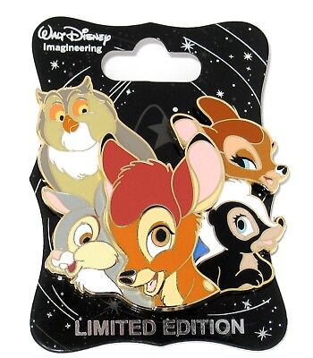 RARE WDI D23 LE Disney Pin ✿ Character Cluster Bambi Thumper Faline Flower Skunk
