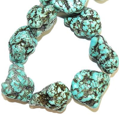 """NG3019 Light Blue-Green Turquoise 27mm - 34mm Large Magnesite Nugget Beads 15"""""""