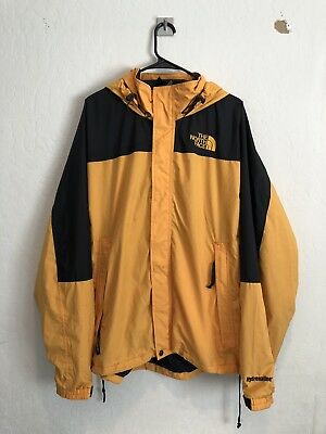 645a534b6 THE NORTH FACE Hydrenaline Men's Waterproof Lined Jacket Hooded Sz XL Gold  Black