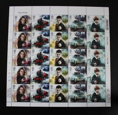 Harry Potter Royal Mail 2018 Stamp Sheets 50 Fifty Stamps First Class Brand New