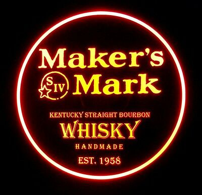 Makers Mark 12 x 12 Man Cave Remote Control RGB LED Sign led box