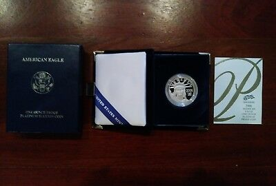 2006-W 1 oz Platinum American Eagle PROOF Coin with Box & COA USA