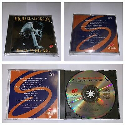"Michael Jackson ""Rock With Me"" Rare Cd 1993 Italy - Out Of Print"