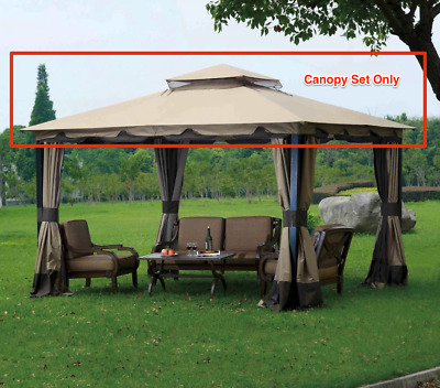 Sunjoy L-GZ215PST-4 Deluxe Gazebo Canopy Set Replacement for Big Lots