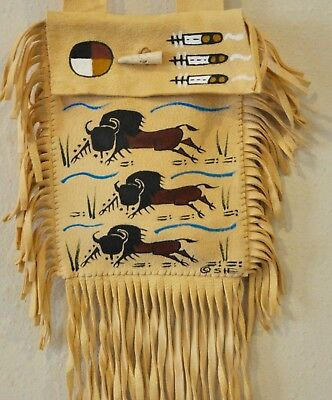 Tatanka (Buffalo) Purse By Lakota Artist Sonja Holy Eagle