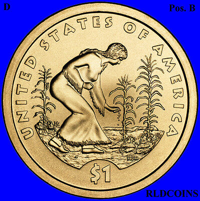 2009 D Sacagawea Native American Uncirculated Dollar Pos B