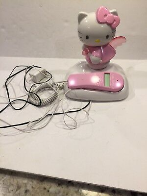 8bf7127fd Hello Kitty Landline Corded Phone Lights Up When Rings Caller ID Pink  Telephone