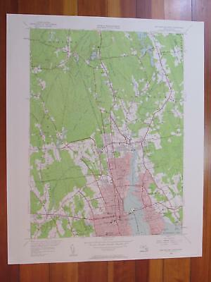 New Bedford North Massachusetts 1958 Original Vintage USGS Topo Map