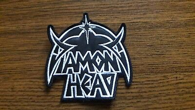Diamond Head,sew On White Embroidered Patch