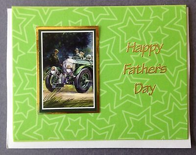 1 Hand made card. Happy Father's Day. Postage $2 for 1 to 6 cards