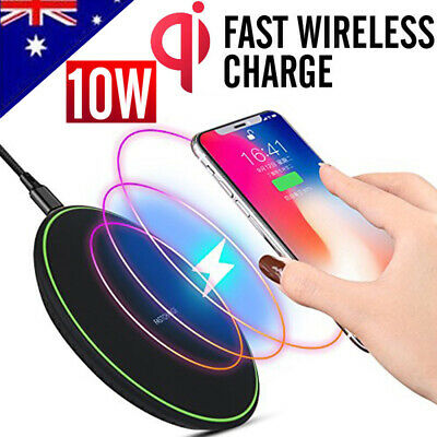 Clear Qi Wireless Fast Charger Mat Charging Pad +Receiver F iPhone X/6/6s/7 Plus