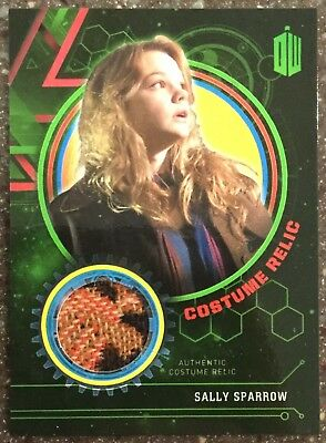 Doctor Who Extraterrestrial Encounters Costume Relic Card Sally Sparrow #'d 99