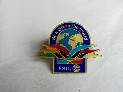 Vintage Rotary International Be A Gift To The World Lapel Pin