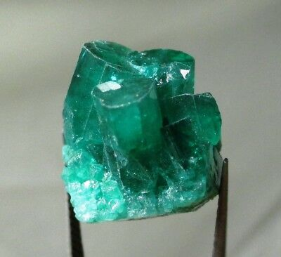 20.9 ct Chatham emerald cluster - lab grown actual emerald cluster - rough