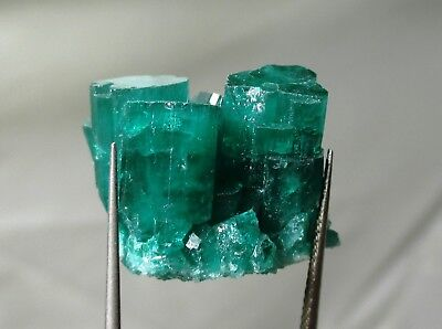 41.5 ct Chatham emerald cluster - lab grown actual emerald cluster - rough