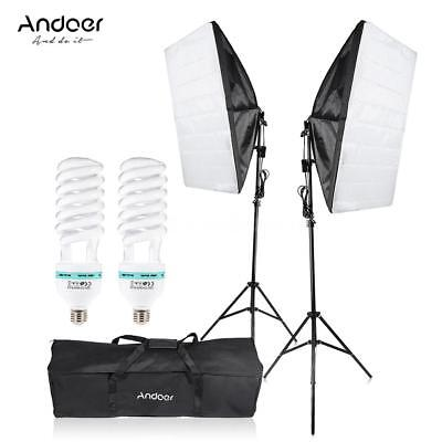 Photography Studio Umbrella Softbox Light Lighting Tent Kit Photo Video B2G7